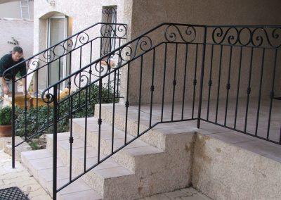 escalier et garde corps cassis